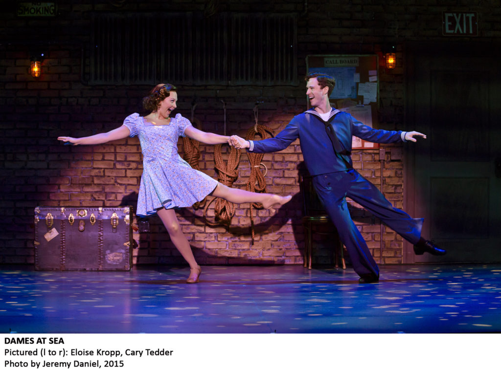 Eloise Kropp and Cary Tedder in DAMES AT SEA photo by Jeremy Daniel